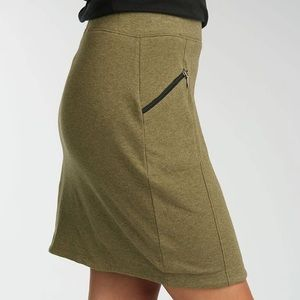 Indigenous Organic Cotton Olive Green Stretch Mini skirt with Pockets Size M